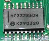 Микросхема заднего дворника на BMW X5 MC33286DW